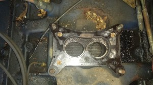The gasket underneath the carb in my Ford F-100 was put in backwards.
